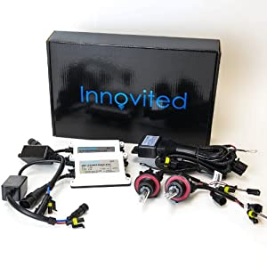 "Innovited 55W AC HID Xenon Conversion Kit ""All Bulb Sizes and Colors"" with Digital Slim Ballast - 9004 9007 - 6000K Bi Xenon HI/LO HID - 2 Year Warranty"