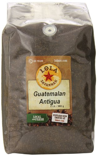 Lola Savannah Guatemalan Antigua Ground Coffee - Exquisite Rich Full Bodied Blend With A Hint Of Smokey Chocolate Finish   Caffeinated   2lb Bag