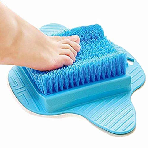 Foot Scrubber Brush, Foot Brush Bristles Deep Clean,Exfoliating Feet Cleaner Scrub Massager Spa for Shower,Hangable Scrub - Foot Pad Spa