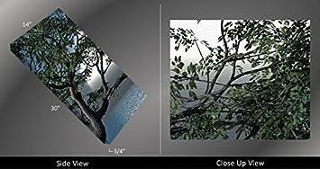 Picture Sensations Framed Huge 3-Panel Digital Art Ocean Moon Moonlight Giclee Canvas Print