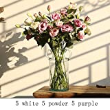 LPAN Room Bedroom Living Room Decorated With Flowers 5 Purple 5 Powder 5 White