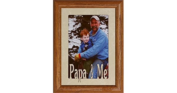 Amazon.com: 5 x 7 Papa & Me – Retrato de fotos marco ~ Holds ...