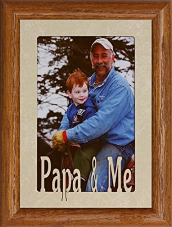 Amazon.com - 5x7 PAPA & ME Portrait Picture Frame ~ Holds a 4x6 or ...