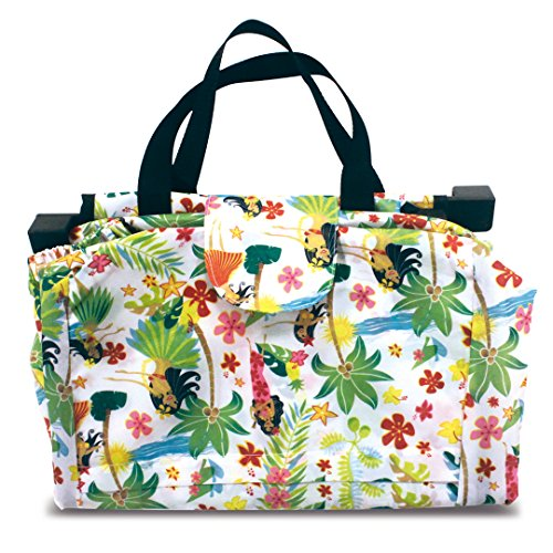 (Foldable Shopping Cart Tote: Island Hula)