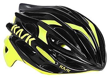 Kask - Mojito 16 - Casco para bicicleta, Adultos , Negro/Amarillo, L
