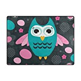 INGBAGS Super Soft Modern Owl Area Rugs Living Room Carpet Bedroom Rug for Children Play Solid Home Decorator Floor Rug and Carpets 5'3 x 4′ – Feet