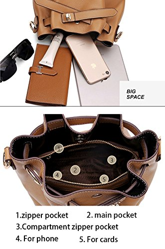Womens Bags Apricot Cross Shoulder Of Layer Leather Designer First Bags Black Body SAIERLONG Ladies qZ7O6E