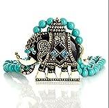 Heidi Daus SWAROVSKI Crystal 2-Strand Beaded Drop Necklace ~Turquoise Majestic Mr. Elephanté