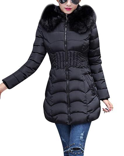 Jacket Manteau Doudoune Fourrure Femme À Capuche Blouson Fausse n07gxqCw11