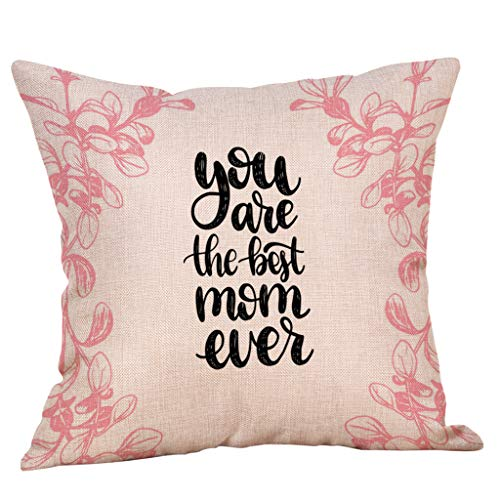 Thomasville Sheet Fitted (Weiliru Pillow Covers Floral Pattern Throw Pillow Case Daily Decorations Sofa Mother Decor, You are My Best Mother)