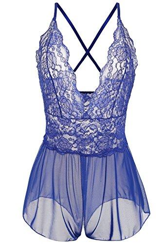 [Kasiria Sexy Lingerie, Open Crotchless Panties Leotard Teddy Nightwear Lace Miniskirt Babydoll Plus] (Plus Size Nurse Outfit)