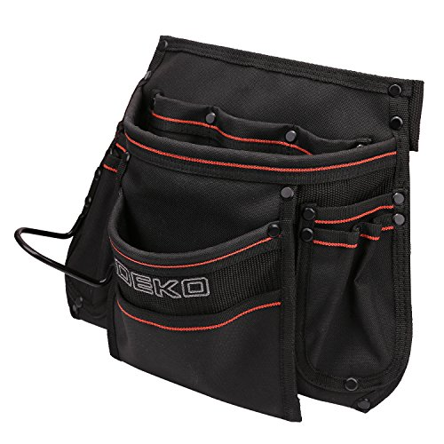 DEKO Tool Pouch with Belt 12 Pockets Electrician Tool Carpenter Nail Waist Bag 600D Oxford cloth Black by DEKO (Image #8)