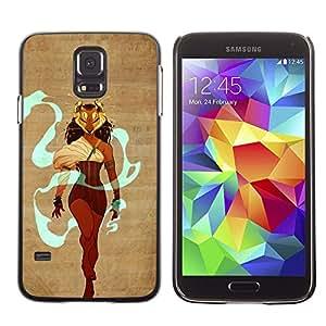 "For Samsung Galaxy S5 Case , Warrior Queen Heroína Maks León Mujer"" - Diseño Patrón Teléfono Caso Cubierta Case Bumper Duro Protección Case Cover Funda"