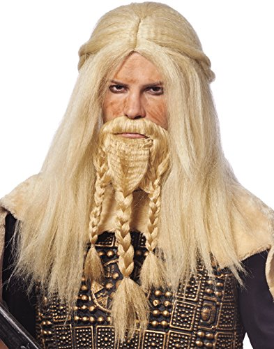 Viking Beard Costume (Costume Culture Men's Viking Wig and Beard Set, Blonde, One)