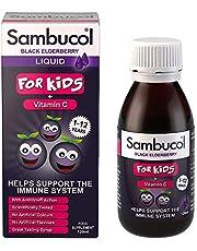 Sambucol Kids Formula Black Elderberry Liquid with Vitamin C, UK Version, 120ml