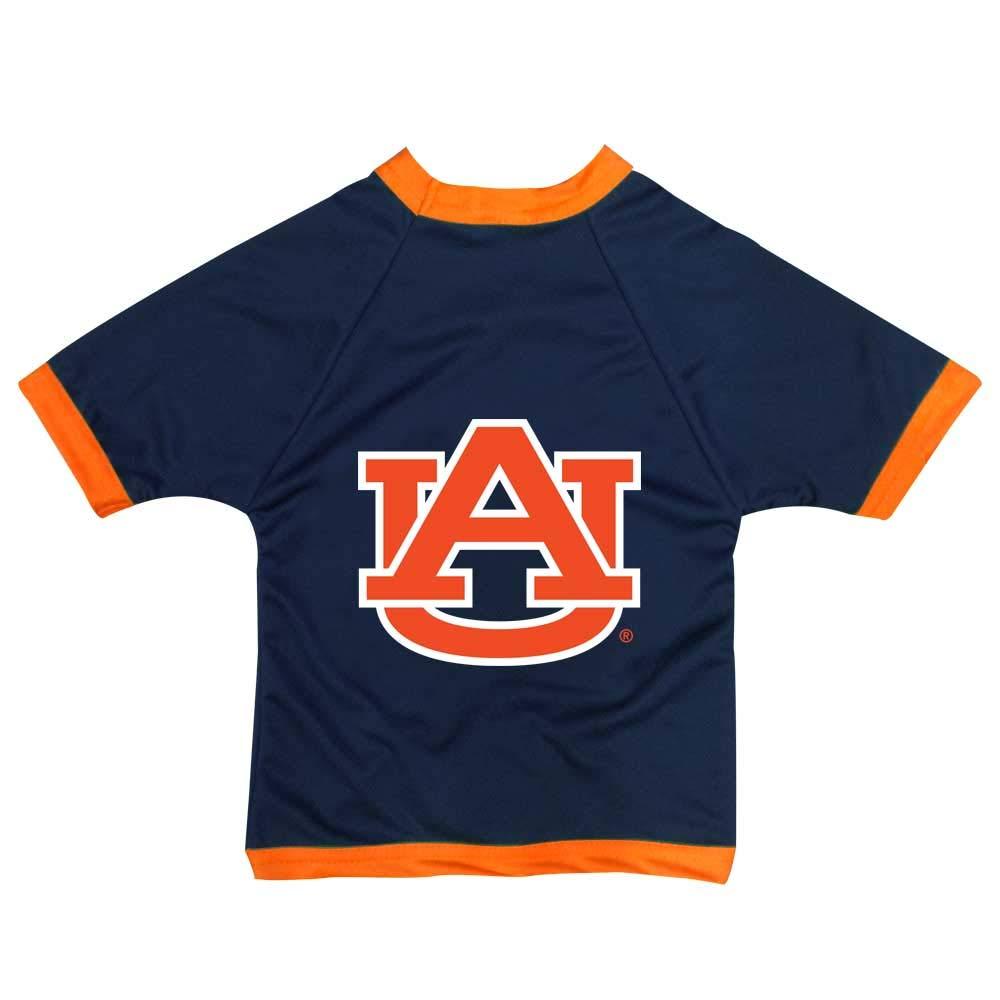 NCAA Auburn Tigers Athletic Mesh Dog Jersey (Team color, Tiny)