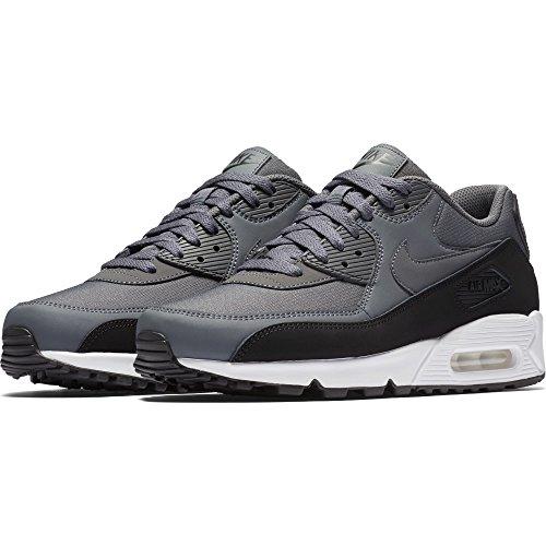 NIKE Mens Air Max 90 Essential Running Shoes Black/Dark Grey/White 537384-085 Size 11