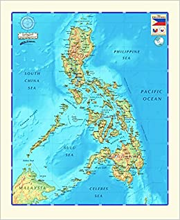 Decorative PHILIPPINES Largel Wall Map *Laminated* 48