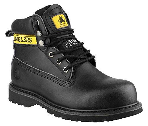 Amblers Steel FS9Stahlkappe Stiefel Herren Rutschfeste Sicherheit Schuhe Schwarz