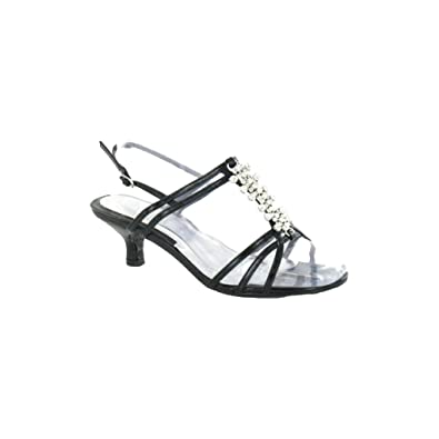 7399418c0adf Spot On Ladies Womens Stiletto Diamante Extra Wide Fit Sandal Shoe Size 3 4  5 6 7 8-Black-UK 5-UK 5  Amazon.co.uk  Shoes   Bags
