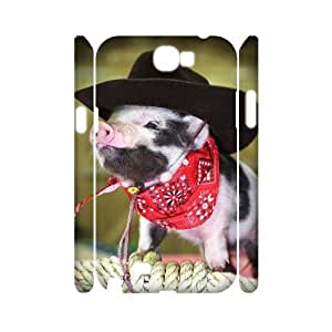 ANCASE Cute Pig Customized Hard 3D Case For Samsung Galaxy Note 2 N7100