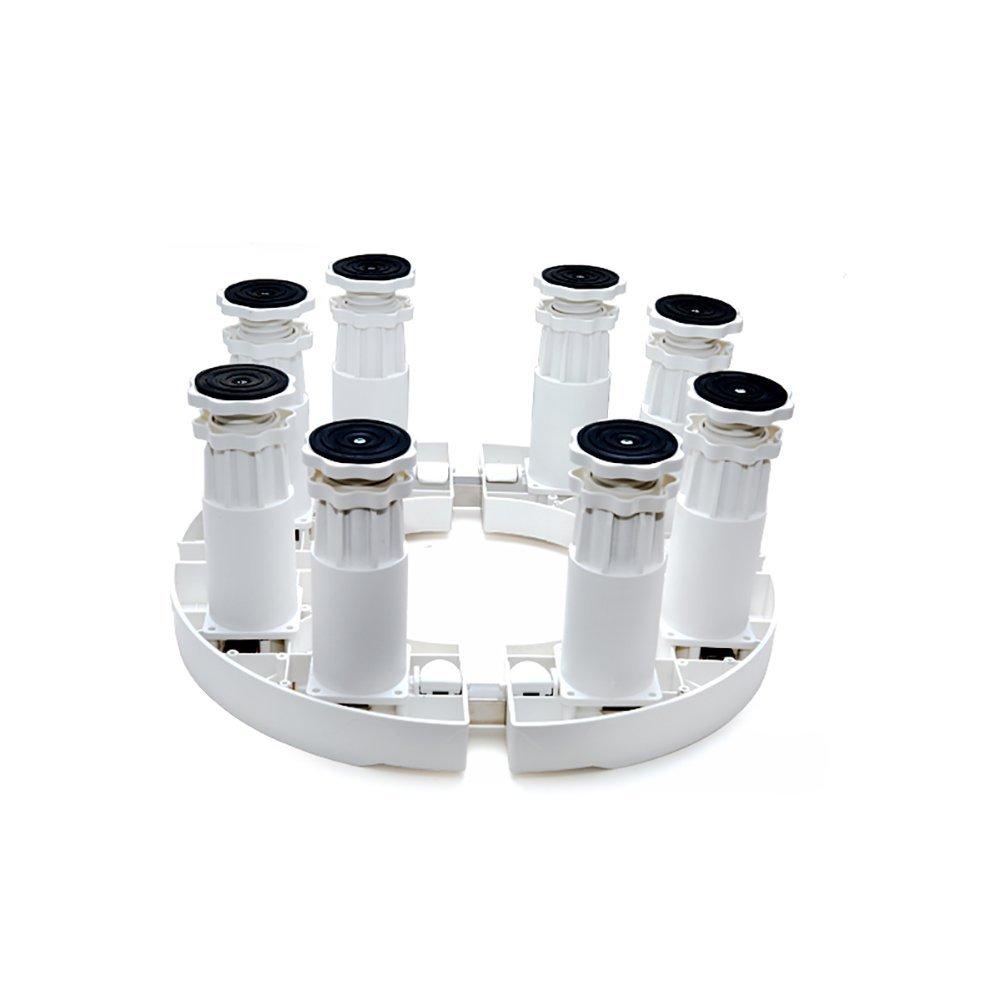円筒ベースのエアコン洗濯機ブリーザブラケットキャビネットマシン調節可能な耐震消音ベース (サイズ さいず : 8 feet) 8 feet  B07FZQCBV8