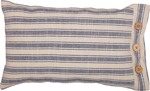 Piper Classics Market Place Blue Ticking Stripe Pillow Cover, 12
