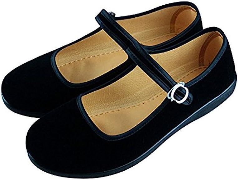 APIKA Women's Velvet Mary Jane Shoes