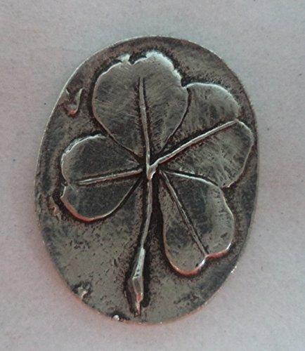 Clover Pocket Stone (A4502C) (Leaf Clover Good Luck Charm)