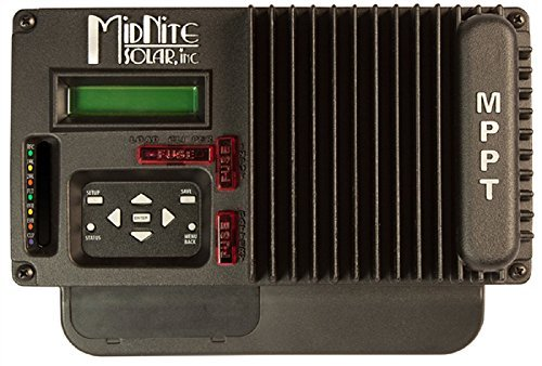 Midnite Solar, The KID MPPT Charge Controller, 150VDC, 30A, 12-48V Battery, with LCD & wall mount bracket, Black, MNKID-B
