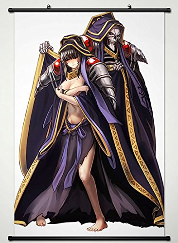 Wall Scroll Poster Fabric Painting For Anime OVERLORD Ainz Ooal Gown Narberal 017 L