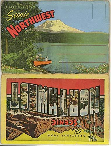 Scenic Northwest United States - Views of Washington Oregon idaho - 1935 Kropp Souvenir Postcard Folder - #F147
