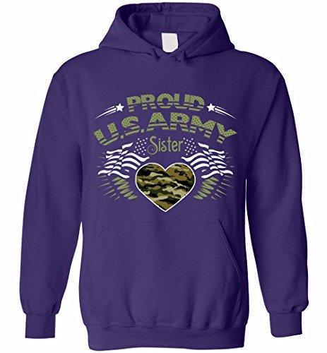 Proud Army Sister Hoodie (Army Sister Hooded Sweatshirt)