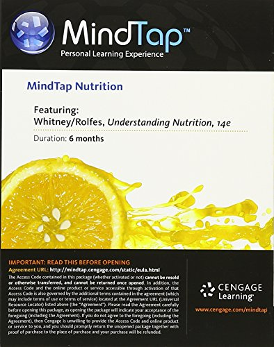 MindTap Nutrition, 1 term (6 months) Printed Access Card for Whitney/Rolfes Understanding Nutrition