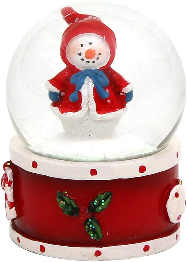 Dekohelden24 Mini de Bola de Nieve, Socket roja, diseño de menú de través dropdown Disponible.: Amazon.es: Hogar