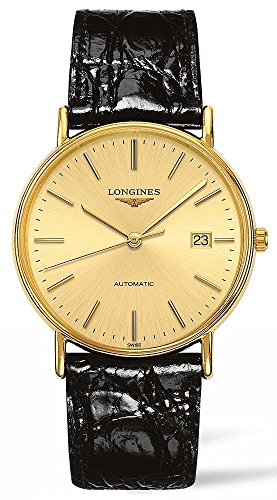Longines Swiss Watches - Longines Presence Leather Automatic Mens Watch L49212322