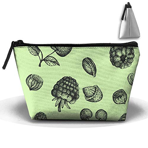 Sunset Pinecones - Horizon-t Pine Cones Cosmetic Bags Organizer Portable Pouch Trapezoidal Storage Cosmetic Bag