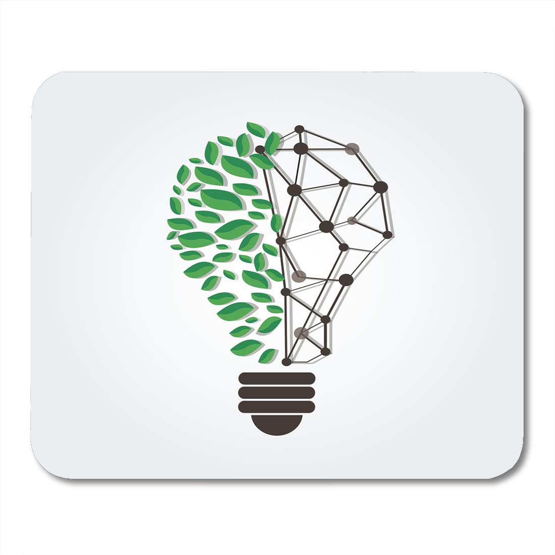 Amazon Com Boszina Mouse Pads White Green Leafs In Light Bulb