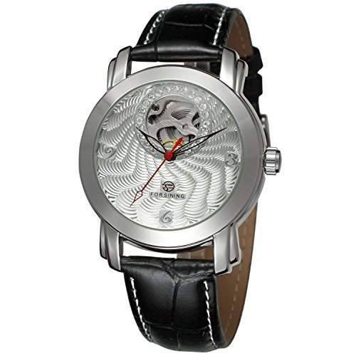 New Watch Design (Forsining Men's Skeleton Automatic Mechanical Wrist Watch FSG009M3S1)