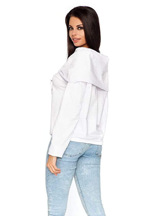 Ladies Casual Jumper With Pockets Cowl Neck Top Sweater Sizes 8-18 FT1439