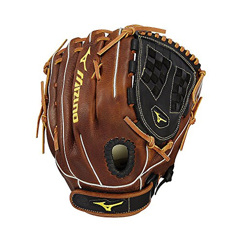 Mizuno Classic Fastpitch Series GCF1250F2 Infield/Outfield/Pitcher Model Gloves, Black/Brown