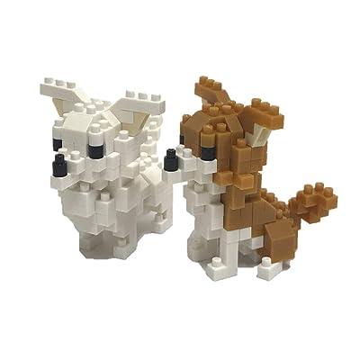 Nanoblock Chihuahua Building Kit, Brown: Toys & Games