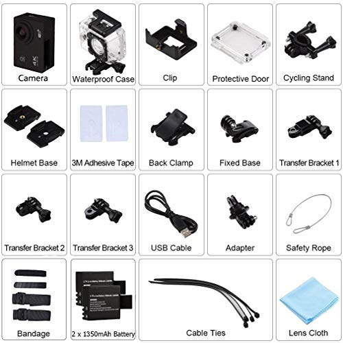 327310b91822 ... Action Camera WeyTy X6S 4K 30m Underwater Camera 16MP Wifi Sport Camera  170°Wide Angle ...