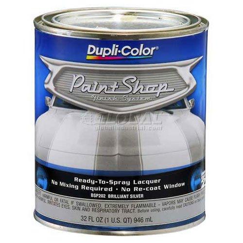 dupli-color-paint-shop-finish-system-base-coat-brilliant-silver-metallic-32-oz-quart-lot-of-2
