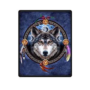 Wolf Dreamcatcher Throw Blanket 40 inches x 50 inches (Small)