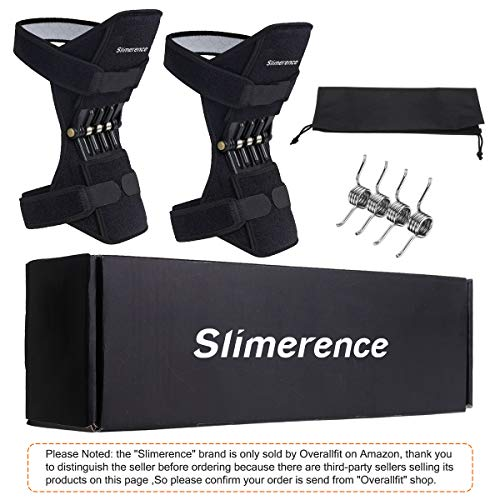 Slimerence Knee Protection Booster Power Lift Support Knee Pads Knee Brace Powerful Rebound Spring...