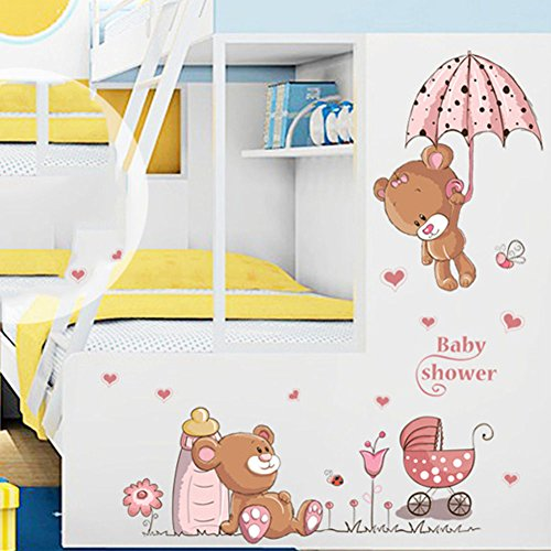 Removable Cute Bear Pattern Wall Sticker Girl Baby Children Room Art Decor Decal by Wall Sticker