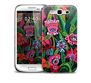 artistic jungle flowers Samsung Galaxy S3 GS3 protective phone case