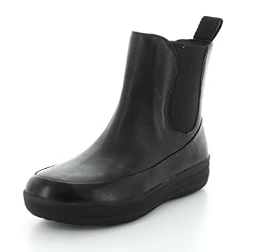 208c7ae1127d07 Fitflop Womens FF-Lux Chelsea Boot Black Mid Boots  Amazon.co.uk  Shoes    Bags