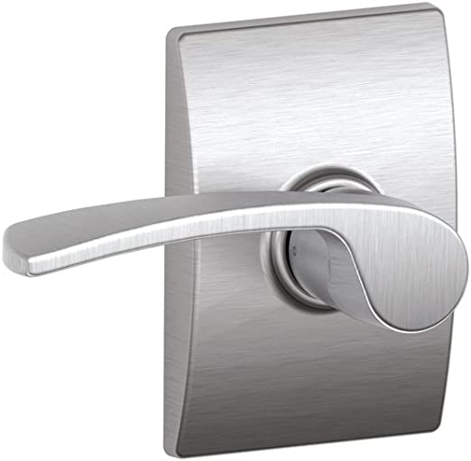 Satin Chrome Schlage F10 MER 626 16-080 10-027 Merano Hall and Closet Lever